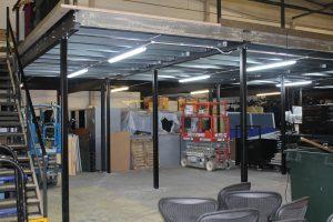 Storage Mezzanine with lighting